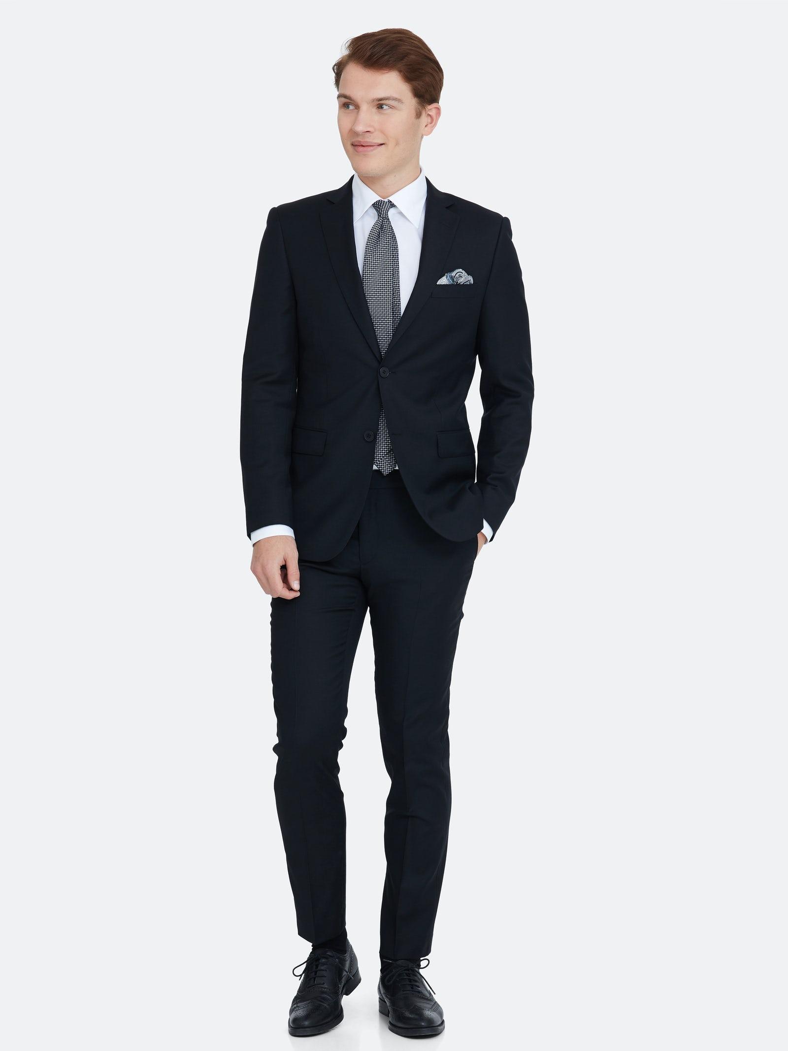 Miesten puku, koko 50 (Dressman Batistini)